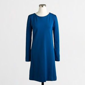 J Crew Blue Ponte Dress